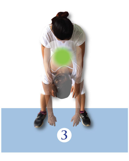 Four standing relaxation exercises