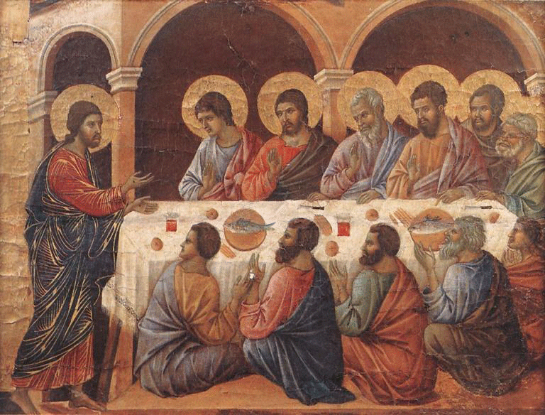 What did the saints eat?