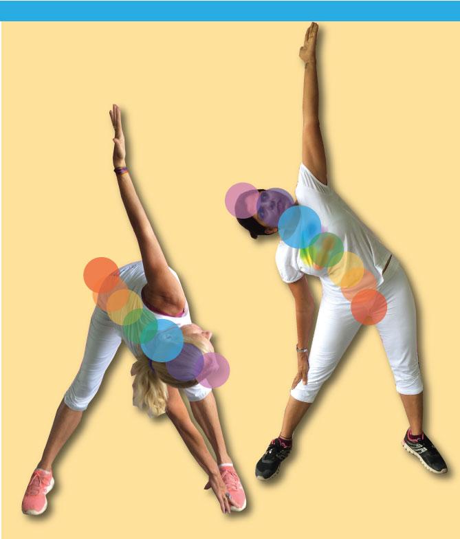 Throat chakra activation - side twist neck & side bend- leg front back & bridge with pelvis tuck