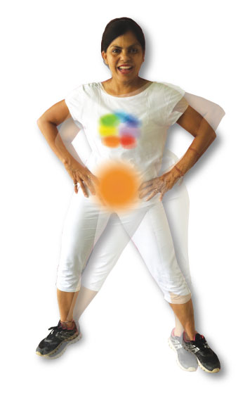 Sacral chakra activation - knee to elbow & hip rotation