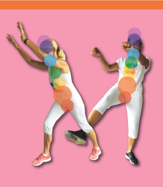 Sacral chakra knee lift & front kick