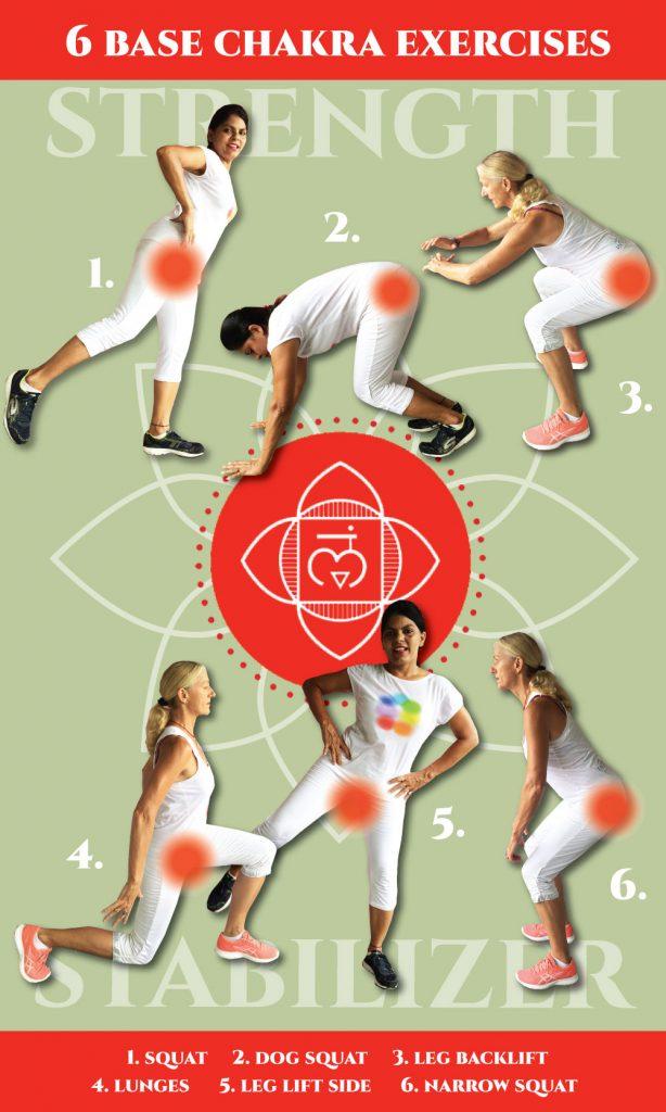Free holistic exercise chart for base chakra
