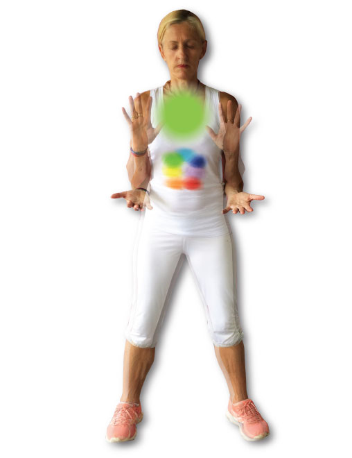Heart chakra exercises - taking in & expansion